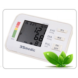 Wholesale Digital Arm Blood Pressure and Pulse Monitor health monitor Health Care Sphygmomanometer Portable Blood Pressure Monitor order lt no track