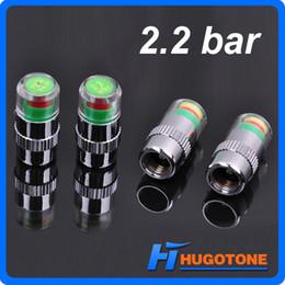 4PCS / Set Car Auto pressão da válvula Monitor de tronco Caps pneu da haste da válvula Cap 2,2 bar 2,4 bar Indicador Sensor