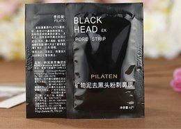 Wholesale PILATEN Black Head Pore Strip Pore Cleaner Facial Minerals Conk Nose Blackhead Remover Suction Black Mask Face Care Drop Shipping