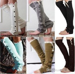 Wholesale Stage Wear Lace button down Leg Warmers Ballet Dance Warm up knitted booty Gaiters Boot Cuffs Socks Boot Covers
