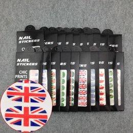 Wholesale Nail Art New Arrival Flag Series Convenient Applique Nail Sticker