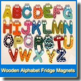 Wholesale 26pcs Set Children s Toys Wooden Alphabet Fridge Magnets Puzzle Toys for Kids Baby Children Hot Item