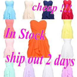 Wholesale Cheap Coral Mint Bridesmaid Dresses Short Champagne purple Navy Burgundy Lilac Maid of Honor Wedding Guest A Line Sweetheart Party Gowns