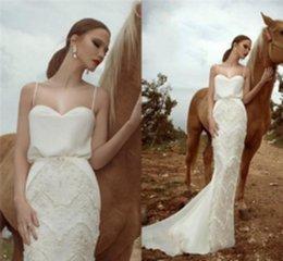 Wholesale Zoog Studio Wedding Dresses Backless Sexy Beach Spaghetti Sleeveless Ivory White Mermaid Hot Bridal Gowns babybride D2925