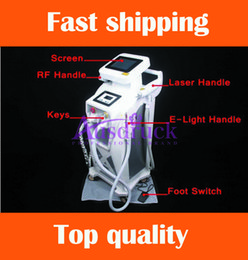 Wholesale EU tax free YAG LASER E Light RF Tattoo removal IPL Elight Skin beauty Hair Removal Machine