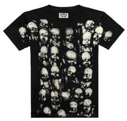 Wholesale custom deisgjn rock club full print black monster t shirt t shirts M L XL XL skull t shirt