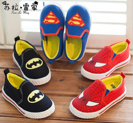 Wholesale HIGH Quality Superman Spiderman Batman classic shoes years old baby shoes children s shoes casual shoes kids shoes pairs