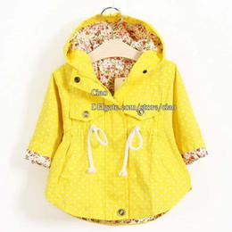 Wholesale Kids Trench Coats Korean Girls Coats Children Trench Coat Girl Dress Kids Hoodies Children Clothes Kids Clothing Fashion Flower Autumn Coat