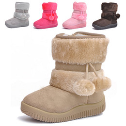 Wholesale 2014 New Christmas gifts Children snow boots personality ball for boys girls shoes winter casual Child boots Kids