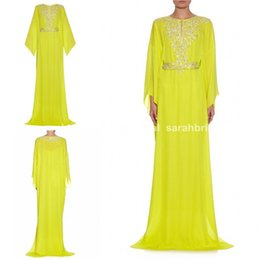Wholesale 2015 Fashion Wedding Evening Dresses For Womens Cheap Sequins Luxury Muslim Arabic Islamic Dubai kaftan Abaya Embellished Prom Gowns
