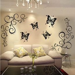 Butterfly Home Decor Wall Stickers Personalized Bathroom Mirror Poster Wall Paper Diy Vinyl Decoration Wall Decals