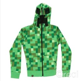 Wholesale Creeper Hoodie MINECRAFT Hoodie Creeper Coat Creeper jacket US youth size for kids boys GREAT QUALITY IN STOCK
