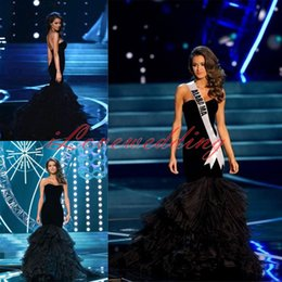 Wholesale Sexy Black Mermaid Pageant Evening Gowns New Designer Sweetheart Ruched Puffy Vestido De Fiesta Prom Party Formal Celebrity Dresses