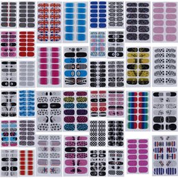 Wholesale Fashion Nail Stickers Mixed Styles Nail Art Stickers Beauty Finger Nails Decal DIY Decorations For Women Lady Girl set ZZV