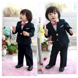 Wholesale 2015 Custom Made Handsome Fashion han edition little boys dress suit tuxedo children costumes for wedding