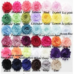 Wholesale 100pcs quot chic shabby frayed chiffon flowers chiffon Rosette flowers for Baby Girl headbands hair accessories