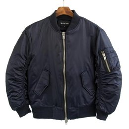 Wholesale Fall Hi Street Military Style Man Bomber Jacket Brand Designer Hip Hop Flight Jacket Mens Varsity Baseball Jacket Q1762