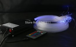 Wholesale-DIY optical fibre light kit RGB color change wireless control  star ceiling light 16W IR optic fiber light for