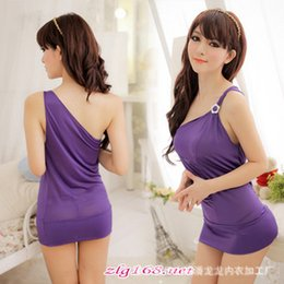Wholesale Cosplay Uniform Sexy Lingerie Hot Set Sleepwear Home Wear Sex G String Costume Nightdress No
