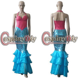 Wholesale Cheap Custom MadeThe Little Mermaid dress Cosplay Costume for Christmas and Halloween party high quality factory directly sale