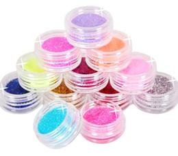 Wholesale La moda Metálica de Color Glitter Nail Art Kit de Herramienta de Acrílico en Polvo Polvo de la gema del polaco de Clavo de Herramientas de orden no de seguimiento