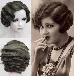 Стиль Короткие СКРУЧИВАЕМОСТИ ретро волос парики ретро волны волос 6 цветов Доступные высокого качества синтетические парики Бесплатная доставка