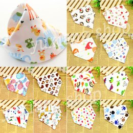 Wholesale 2014 new Baby Bibs Infant Saliva Towel Children s Triangular Bandage Multi purpose Cartoon Turban