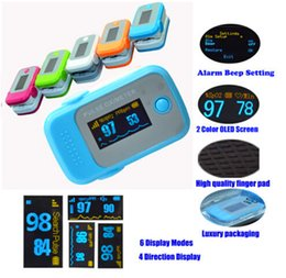 Wholesale Health care OLED Fingertip Pulse Oximeter Spo2 Monitor with Audio Alarm Pulse Sound hours continuous to work
