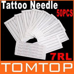 Wholesale 50 Disposable Round Liner sterile Sterilized Tattoo Machine Needles RL Dropshipping