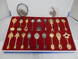 Discount fairy tails Wholesale Retail HOT Quality Fairy Tail Lucy Celestial Zodiac Spirit Gate Keys set 18pcs Keychain Free Shipping