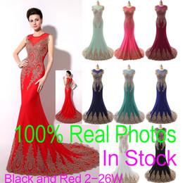 Neck Sheer Mère formelle de la célébrité Robes de mariée Robes de soirée de bal Appliques Mermaid Bridal Party 2015 pas cher réel Taille Plus Image