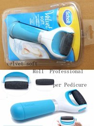 Wholesale Scholl Velvet Smooth Express Pedi Electric Foot File Professional Feet Skin Remove Foot Cares best gifts