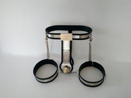 Wholesale Ajustável Feminino Cinto de castidade com Coxa punhos Handmade Chastity Dispositivo para Mulheres com Vagina Plug Anal Sex Toys