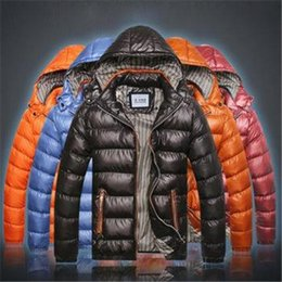 Wholesale M041 men winter warm jacket new hooded men s down jacket male cotton padded for men jaqueta masculina color