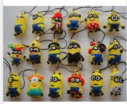 Wholesale 2016 new Many little yellow man doll despicable me god steal dads gift pendant key chain
