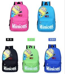Wholesale New Despicable Me minions backpack Kids Bag Child Boy Girl Cartoon Bags Schoolbag school Backpack Bags LJJH398