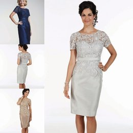 Mother Bride Dress Knee Length Silk Suppliers   Best Mother Bride ...