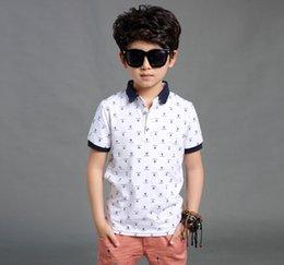 Wholesale 2015 Summer New Arrival big children t shirt printing boys Leisure clothes sleeveless fashion big kids polo shirt T265