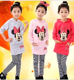Wholesale 3PCS Girl Baby Toddler Top Minnie Mouse Coat Pants Dress Skirt Set Kids Outfits