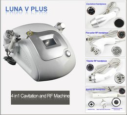 Wholesale LUNA V PLUS cavitation radio frequency bi polar rf machine tripolar rf machine multipolar rf machine