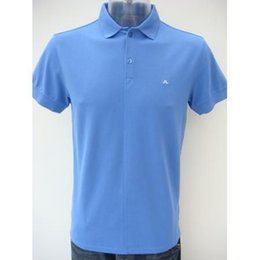 Wholesale High quality cotton shirt men short solid tops J LINDEBERG shirts black pink red blue S XXL shirts