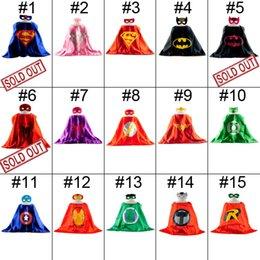 Wholesale Double Side Batman Superman Cape Mask Reversible Superhero Cape Supergirl Cape Mask Set Party Iems Hot Sale