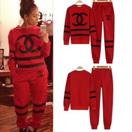 Wholesale 2014 New fashion Leisure Women sweatshirt Sport Suit COCO Sweater Tracksuits