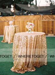 Wholesale High Quality Wedding Decorations Table Skirting Party Birthday Supplies Sequined Table Cloth Sequins Champagne Gold Silver