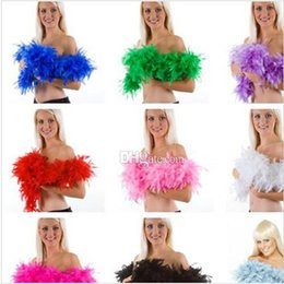 Wholesale 2015 Fashion Wiched Feather Boa Glam Flapper Dance Fancy Dress Costume Accessory Feather Boa Scarf Wrap Burlesque Can Can Saloon BBA3441