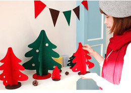 Diy Handmade Xmas Felt Cloth Christmas Trees Creative Gifts Personality Decorative Home Office Pub 21cm 14cm W H Unusual Gifts