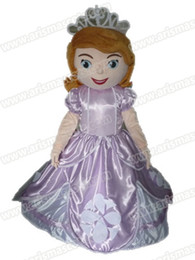 Wholesale AM0634 Princess Sofia Mascot costume adult cartoon Mascot fur mascotte party costumes