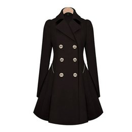 Wholesale Hot Classic Women Fashion British Long Style Elegant Trench Coat Designer Belted Double Trench Outerwear