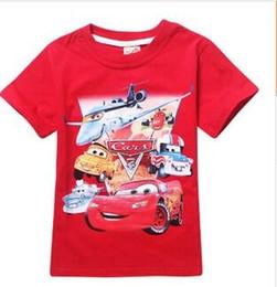 30pcs 2015 nuevo dibujos animados 100% algodón calidad AAA + kid boy girl 4 color 4 tamaño spiderman mcqueen coche verano manga corta T tops camisa