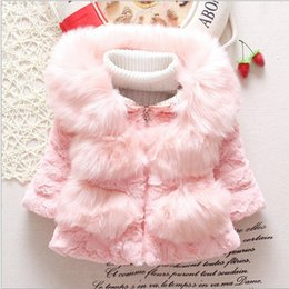 Wholesale New Arrival Best Sale Girls Winter Thickening Princess Coat Two Colors Cute Korean Style Childrens Turn down Collar Casual Coat